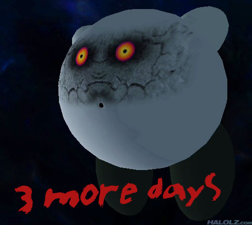 3 more days (Majora's Mask Moon Kirby)
