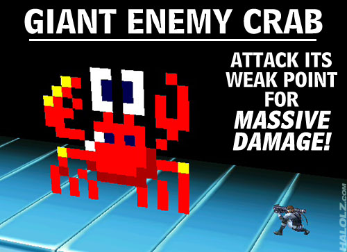 GIANT ENEMY CRAB - ATTACK ITS WEAK POINT FOR MASSIVE DAMAGE!