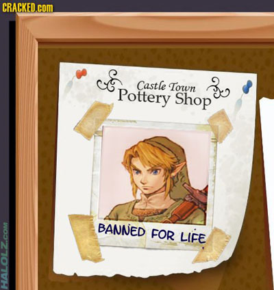 Castle Town Pottery Shop - BANNED FOR LIFE