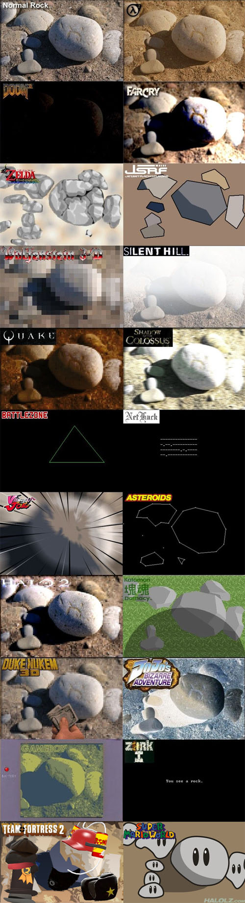 The Many Rocks of Video Games
