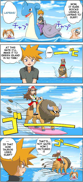 Funny Pokemon images Halolz-dot-com-pokemon-firered-leafgreen-garyoak-taurosusedsurf-comic