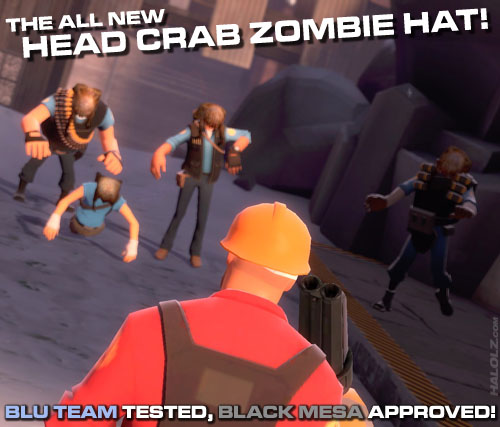 THE ALL NEW HEAD CRAB ZOMBIE HAT!