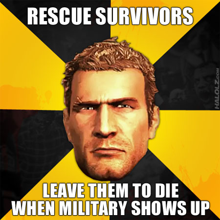 RESCUE SURVIORS - LEAVE THEM TO DIE WHEN MILITARY SHOWS UP