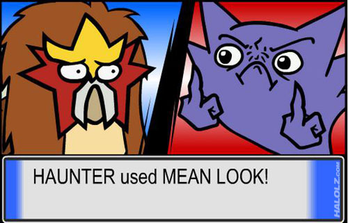 HAUNTER used MEAN LOOK!