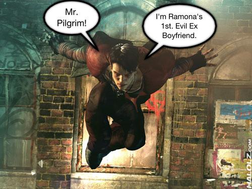 Mr. Pilgrim! I'm Ramona's 1st. Evil Ex Boyfriend.