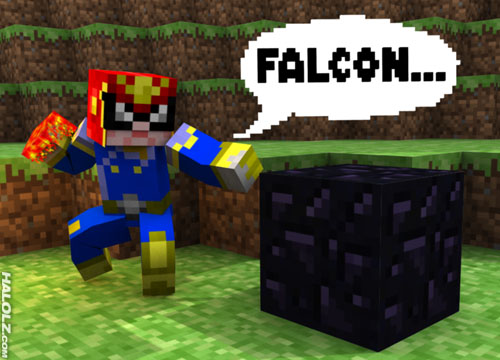 Mine Craft Halolz-dot-com-minecraft-captainfalcon-skin-falconpunch