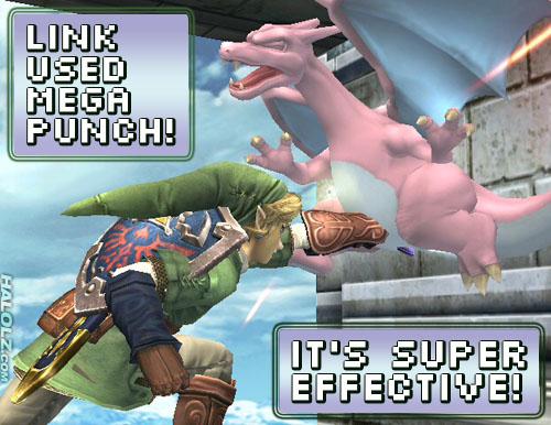 LINK USED MEGA PUNCH! IT'S SUPER EFFECTIVE!