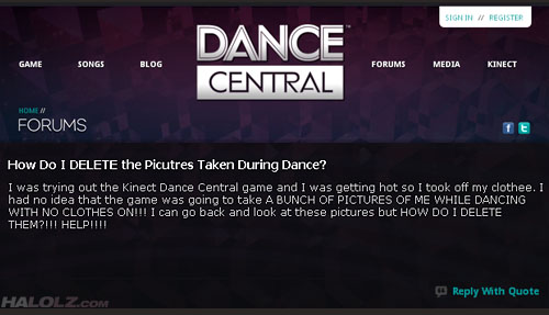 How Do I DELETE the Picutres Taken During Dance? (Forum Thread)