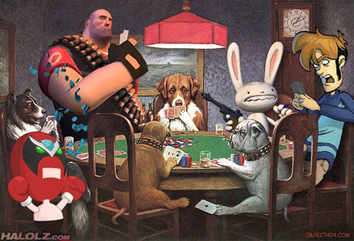 Dogs Playing Poker at The Inventory