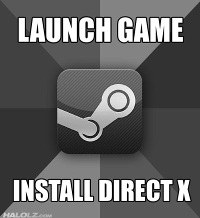 LAUNCH GAME - INSTALL DIRECT X