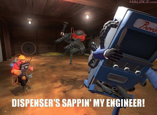DISPENSER'S SAPPIN' MY ENGINEER!