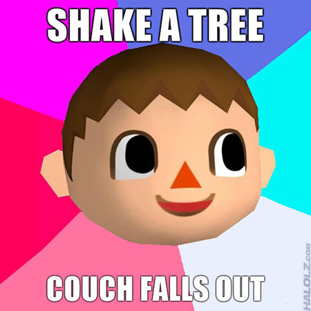 SHAKE A TREE, COUCH FALLS OUT