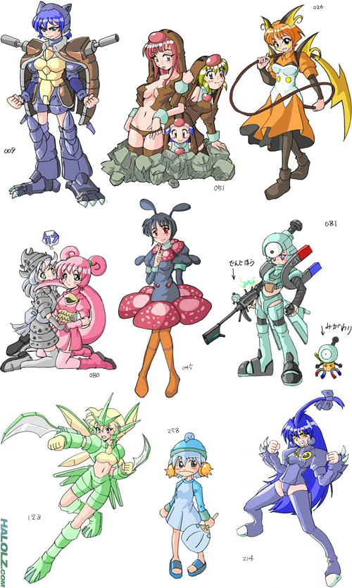 493 Pokémon Drawn As Anime Girls