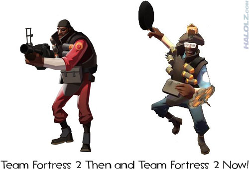 Team Fortress 2 Then and Team Fortress 2 Now!