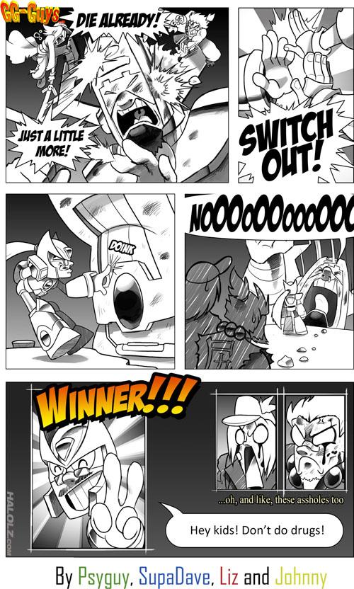 Fighting Galactus in MvC3 (comic)