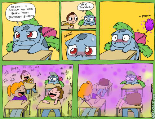 Bulbasaur Used Sleep Powder (comic)