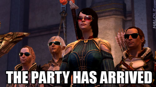 THE PARTY HAS ARRIVED