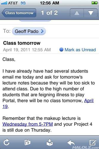 Class tomorrow