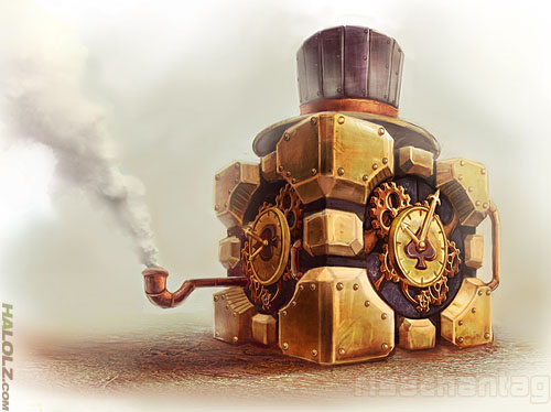 Steampunk Weighted Companion Cube
