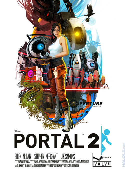 Portal 2 70's Style Movie Poster