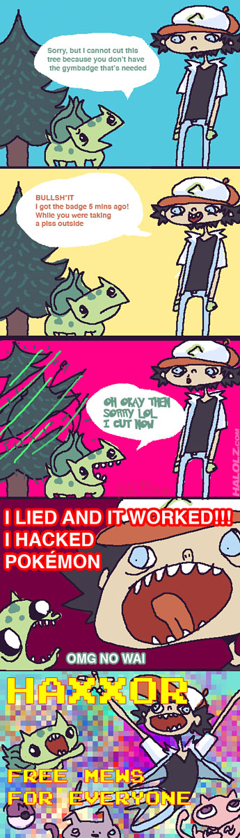 I HACKED POKÉMON (comic)