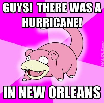 GUYS! THERE WAS A HURRICANE!