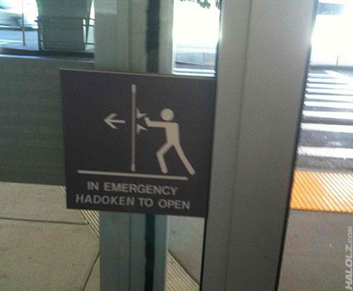 IN EMERGENCY HADOKEN TO OPEN