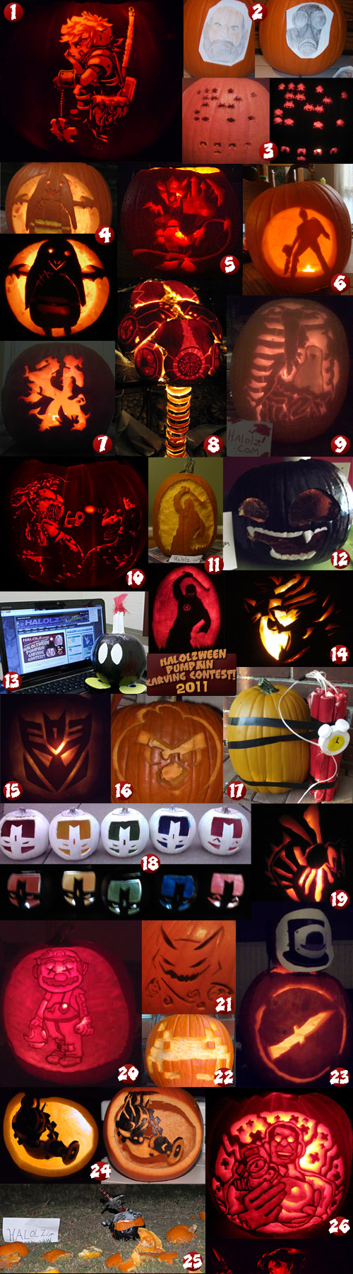 Halolz 2011 Halolzween Pumpkin Carving Contest Entries Page 1