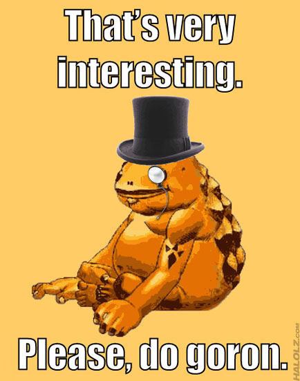 That's very interesting. Please, do goron.