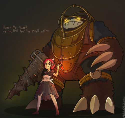 Hurry Mr. Tibbers, we mustnt keep the angels waiting
