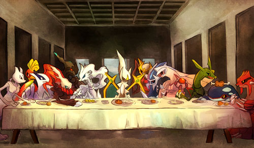 Pokemon Legendaries The Last Supper