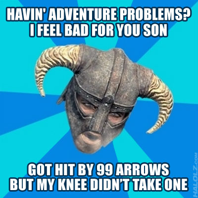 GOT HIT BY 99 ARROWS BUT MY KNEE DIDN'T TAKE ONE