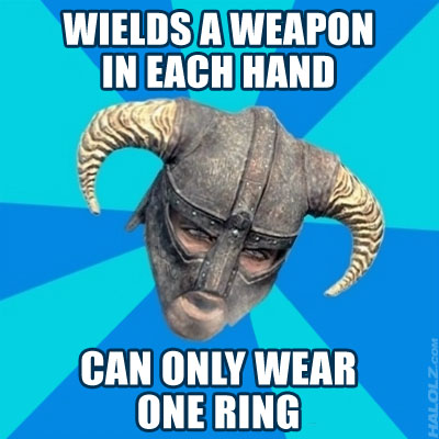 CAN ONLY WEAR ONE RING