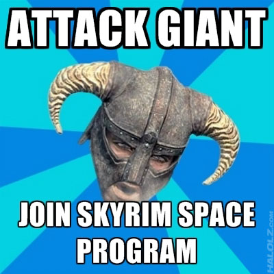 ATTACK GIANT, JOIN SKYRIM SPACE PROGRAM