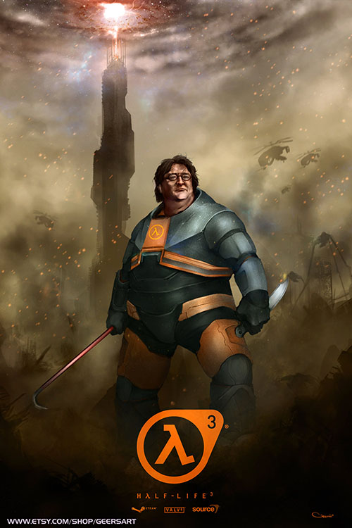 Gabe Newell stars in Half-Life 3