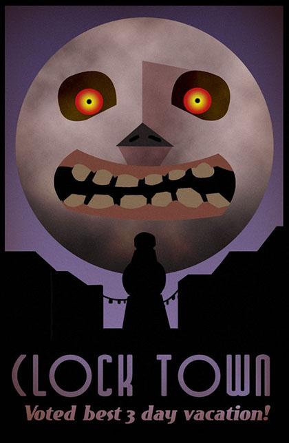 Clock Town Tourism Poster
