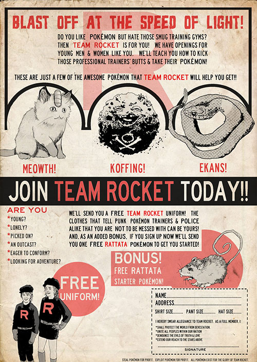 JOIN TEAM ROCKET TODAY!!