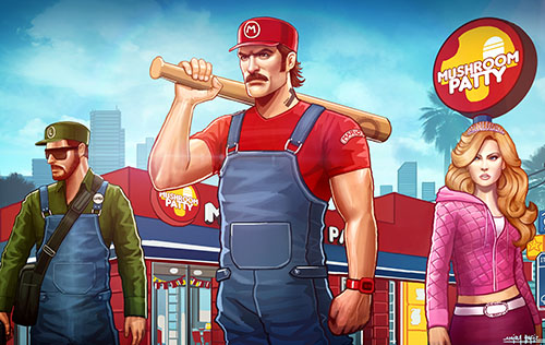 GRAND THEFT MARIO