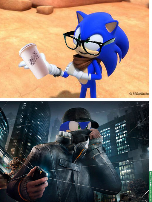 Hipster Sonic / Watch Dogs Sonic